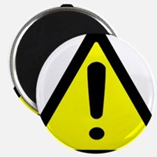 Exclamation Point Caution Sign Magnet