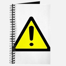 Exclamation Point Caution Sign Journal