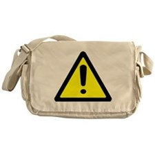 Exclamation Point Caution Sign Messenger Bag