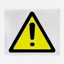 Exclamation Point Caution Sign Throw Blanket