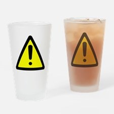 Exclamation Point Caution Sign Drinking Glass