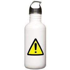 Exclamation Point Caution Sign Water Bottle