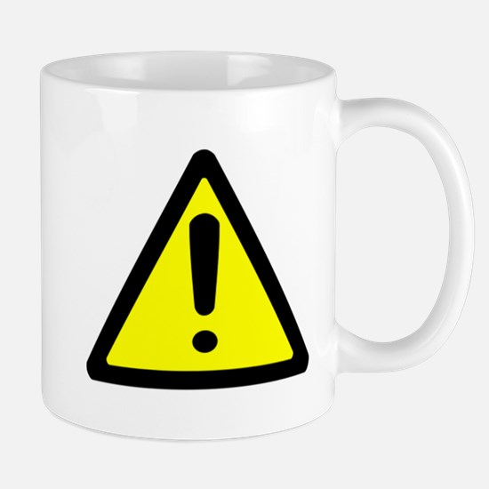 Exclamation Point Caution Sign Mug
