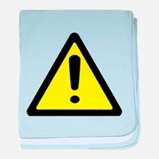 Exclamation Point Caution Sign baby blanket