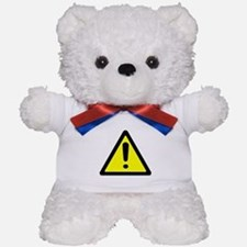 Exclamation Point Caution Sign Teddy Bear