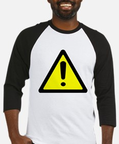 Exclamation Point Caution Sign Baseball Jersey