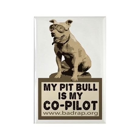 Pit Bull Pilot Rectangle Magnet