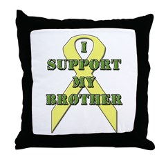 I Support My Brother Throw Pillow