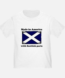 Made In America With Scottish Parts T-Shirt