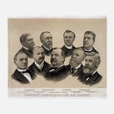 President Cleveland and his cabinet - 1893 Throw B