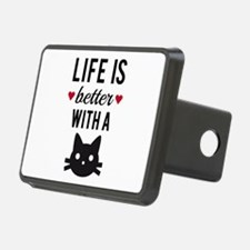 Life is better with a cat, text design, word art H