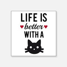 Life is better with a cat, text design, word art S