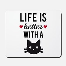 Life is better with a cat, text design, word art M