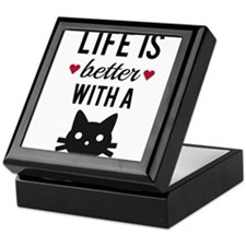 Life is better with a cat, text design, word art K