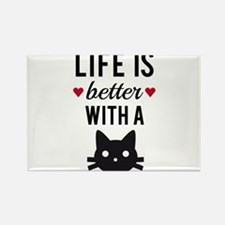Life is better with a cat, text design, word art R