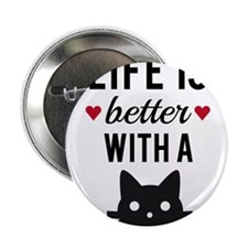 Life is better with a cat, text design, word art 2