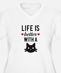 Life is better with a cat, text design, word art P