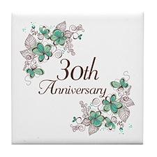 30th Anniversary Keepsake Tile Coaster