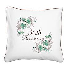 30th Anniversary Keepsake Square Canvas Pillow