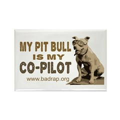 Pit Bull Pilot Rectangle Magnet (100 pack)