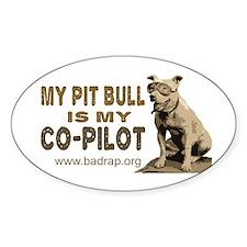 Pit Bull Pilot Oval Sticker