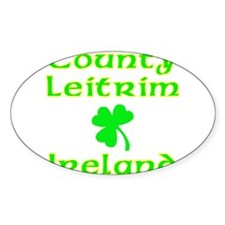County Leitrim, Ireland Oval Decal