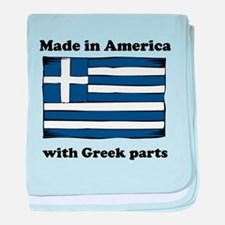 Made In America With Greek Parts baby blanket