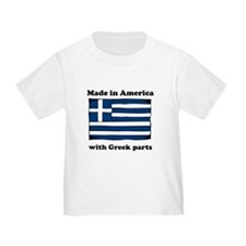 Made In America With Greek Parts T-Shirt