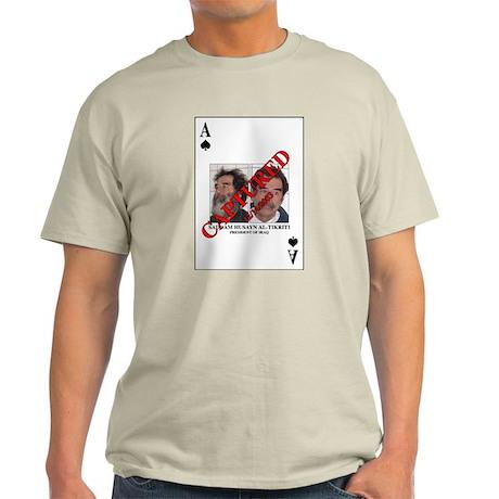 Saddam Ace of Spades Card Ash Grey T-Shirt