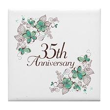 35th Anniversary Keepsake Tile Coaster