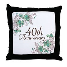 40th Anniversary Keepsake Throw Pillow