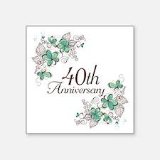 "40th Anniversary Keepsake Square Sticker 3"" x 3"""