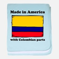 Made In America With Colombian Parts baby blanket