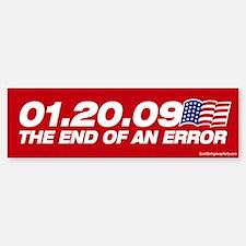 01.20.09 - The End of an Erro Bumper Car Car Sticker