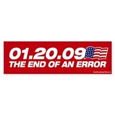 01.20.09 - The End of an Erro Bumper Car Sticker