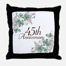 45th Anniversary Keepsake Throw Pillow