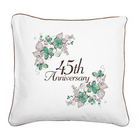45th Anniversary Keepsake Square Canvas Pillow