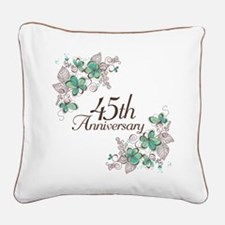 45th Anniversary Keepsake Square Canvas Pillow