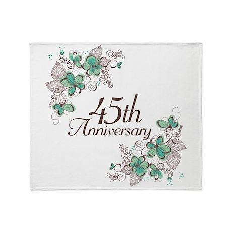 45th Anniversary Keepsake Throw Blanket