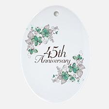 45th Anniversary Keepsake Ornament (Oval)