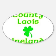 County Laois, Ireland Oval Decal