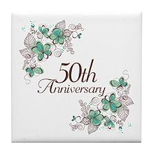 50th Anniversary Keepsake Tile Coaster