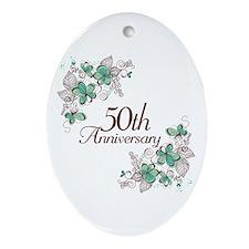 50th Anniversary Keepsake Ornament (Oval)