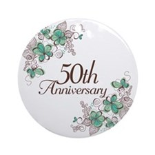 50th Anniversary Keepsake Ornament (Round)