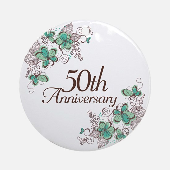 50th Anniversary Keepsake Ornament (Round)