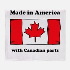 Made In America With Canadian Parts Throw Blanket