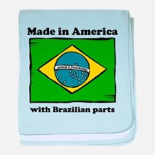 Made In America With Brazilian Parts baby blanket
