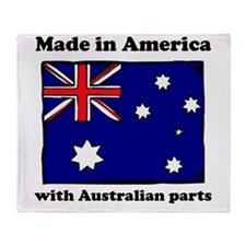 Made In America With Australian Parts Throw Blanke