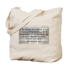 Philippians 4:6 Tote Bag