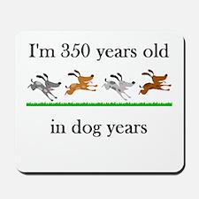50 birthday dog years 1 Mousepad